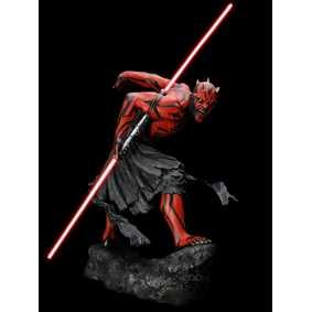 Star Wars Kotobukiya artfx Boneco Darth Maul com luz no sabre (lightsaber)