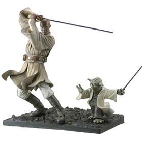Star Wars Kotobukiya Yoda and Mace Windu ArtFx Statue