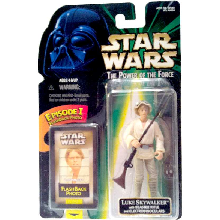 Star Wars Luke Skywalker + Blaster Rifle The Power of the Force Kenner Action Figures