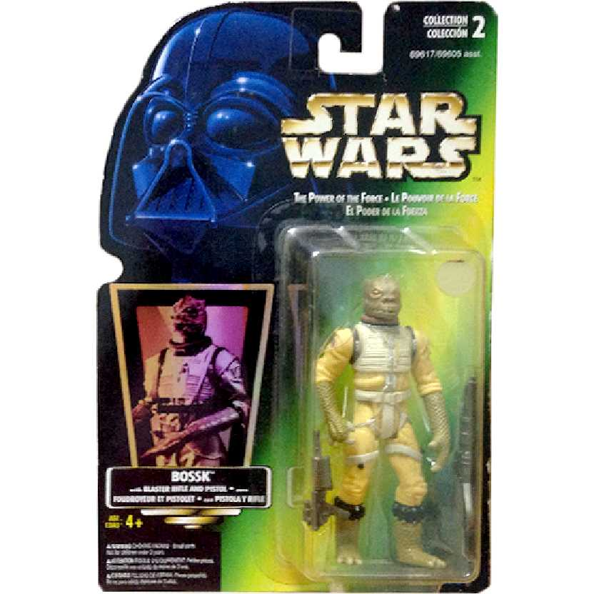 Star Wars Power of the Force Bossk Bounty Hunter with Rifle Kenner Action Figure