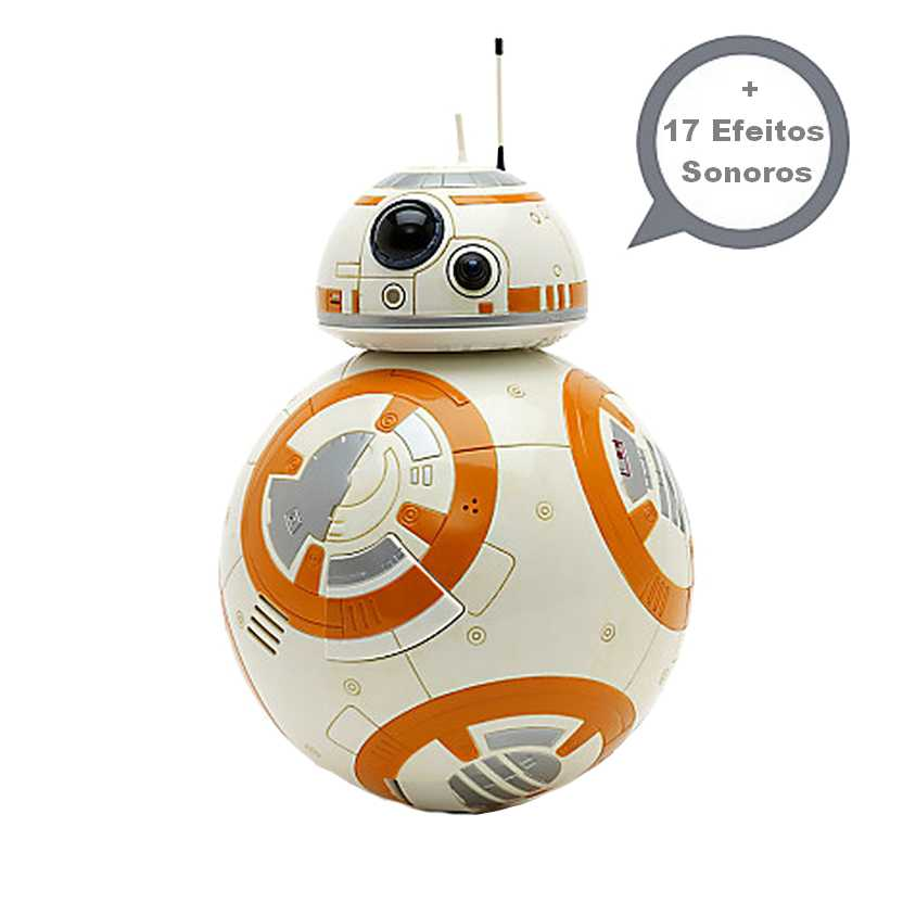 Star Wars robô BB-8 com efeitos sonoros e luz - Disney Store Star Wars BB-8 Talking +17 sound