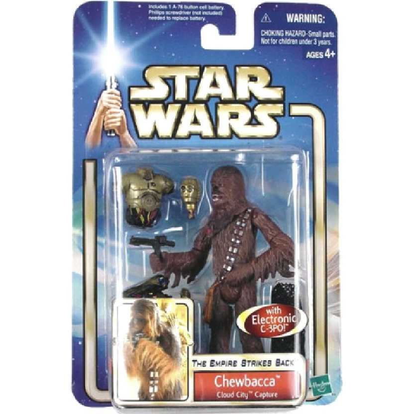 Star Wars The Empire Strikes Back Chewbacca with Eletronic C-3PO marca Hasbro
