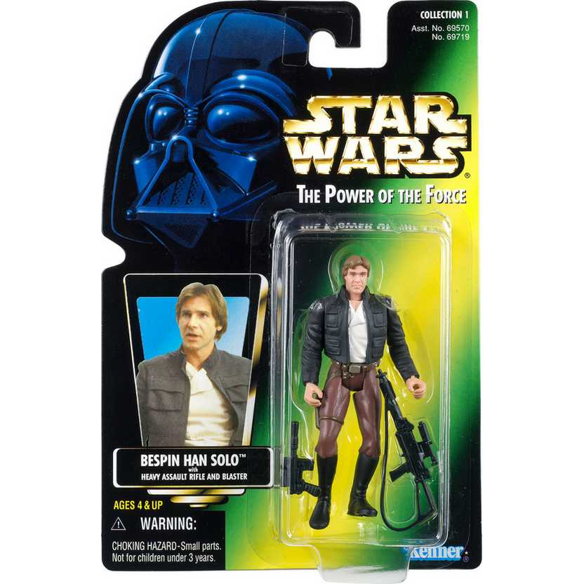 Star Wars The Power of The Force - Bespin Han Solo with Heavy Assault rifle and Blaster