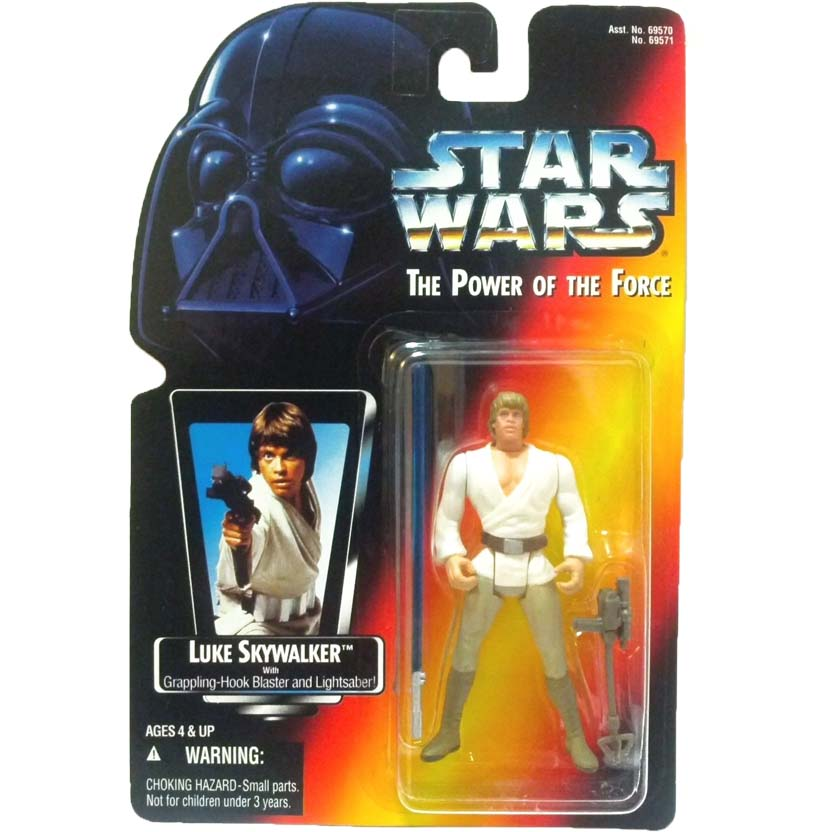 Star Wars The Power of the Force - Luke Skywalker with Grappling-Hook Blaster & Lightsaber