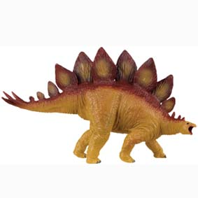 Stegosaurus pintado a mão
