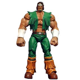 Street Fighter Action Figure Boneco T. Hawk Série 2 (aberto) Thunder Hawk