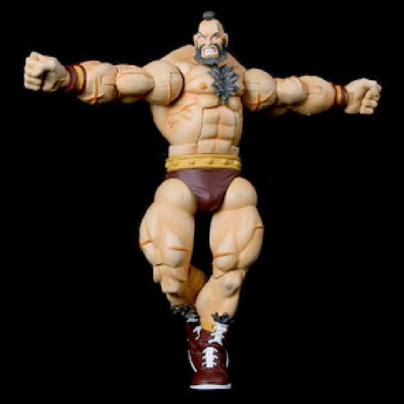 Street Fighter Revolution series 1 Zangief marca Sota Toys bonecos colecionáveis