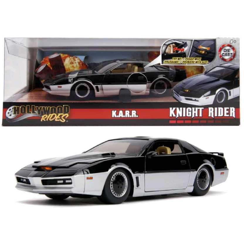 Super Máquina Knight Rider K.A.R.R. COM LUZ 1982 Pontiac Firebird Jada escala 1/24