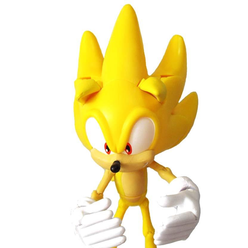 Super Poser SUPER Sonic The Hedgehog Action Figure com 25 pontos articuláveis