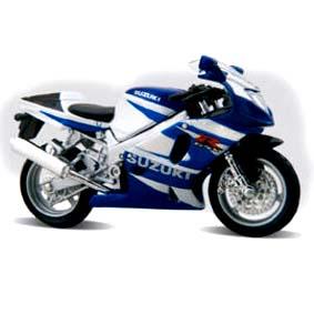 Suzuki GSX-R750 azul