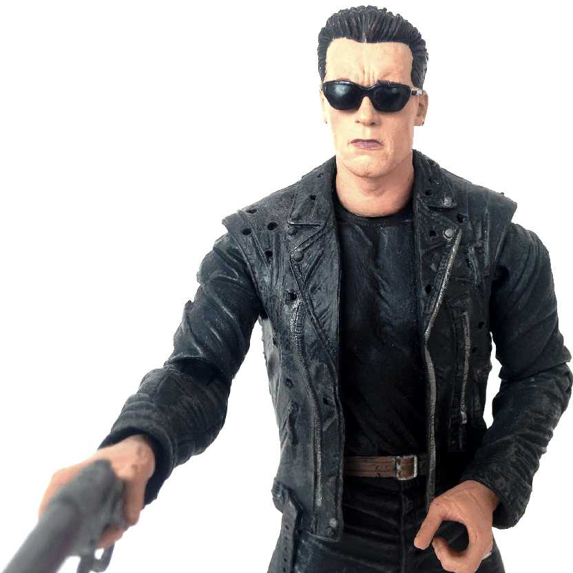 T-800 Arnold Schwarzenegger - Exterminador do Futuro 2 (aberto) sem embalagem
