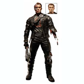 T-800 battle damaged - Terminator 2 Action Figure (aberto)