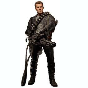 T-800 Cyberdyne Showdown (aberto) Boneco Terminator 2