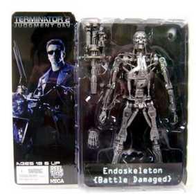 T-800 Endoskeleton Boneco Exterminador do Futuro Action Figures da Neca