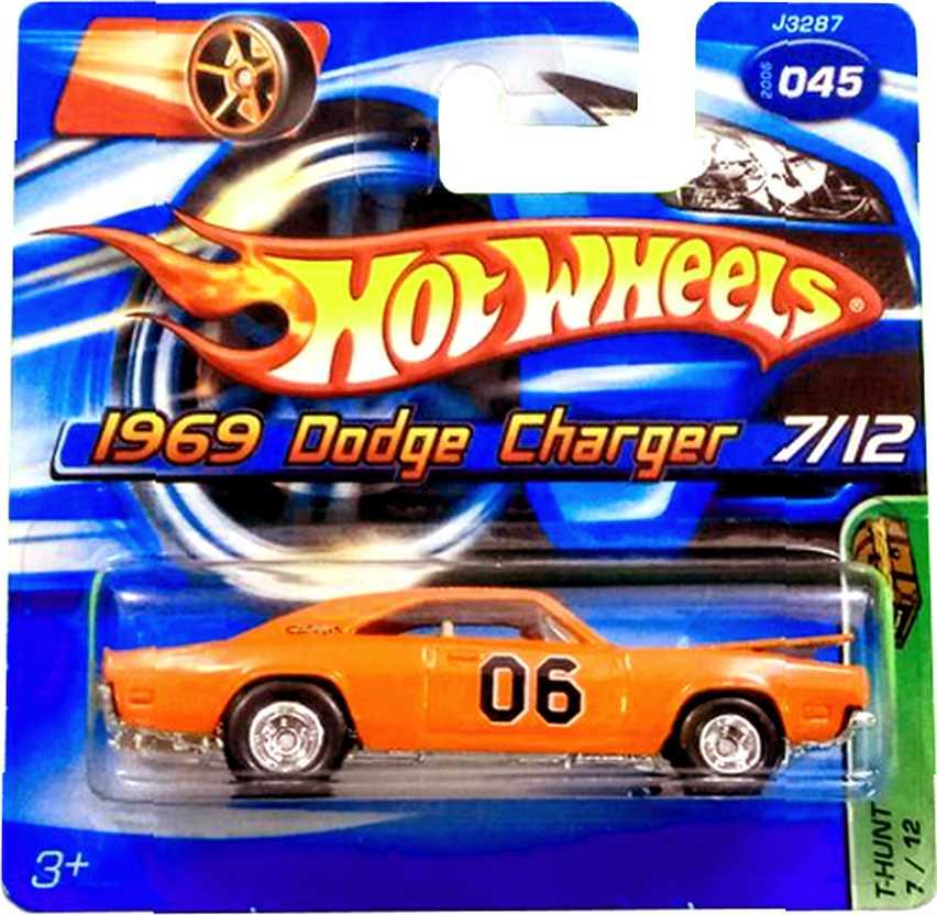 T-Hunt Treasure Hunt 2006 Hot Wheels 1969 Dodge Charger  series 07/12 045 J3287 escala 1/64