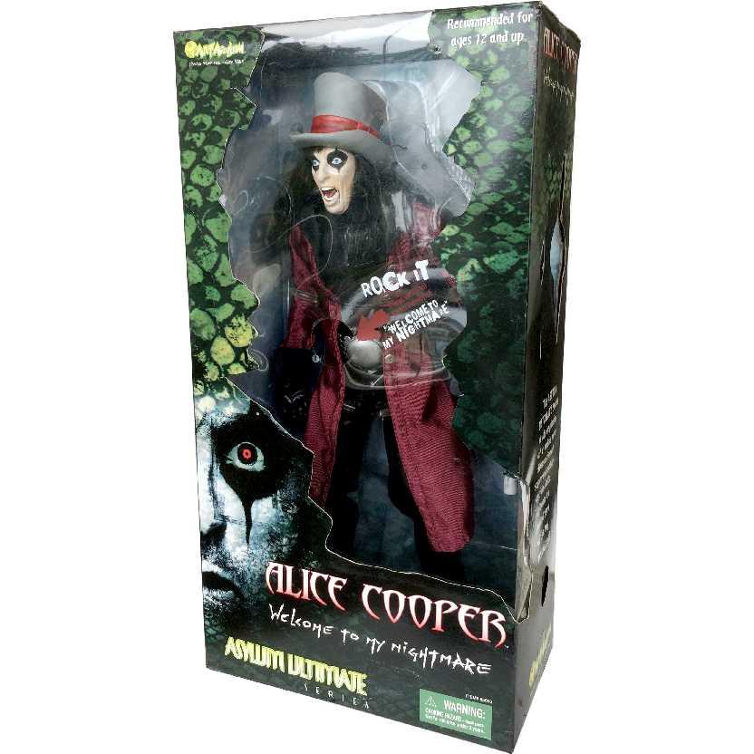 Talking Alice Cooper de 46 cm com som ( Welcome to My Nightmare ) Art Asylum