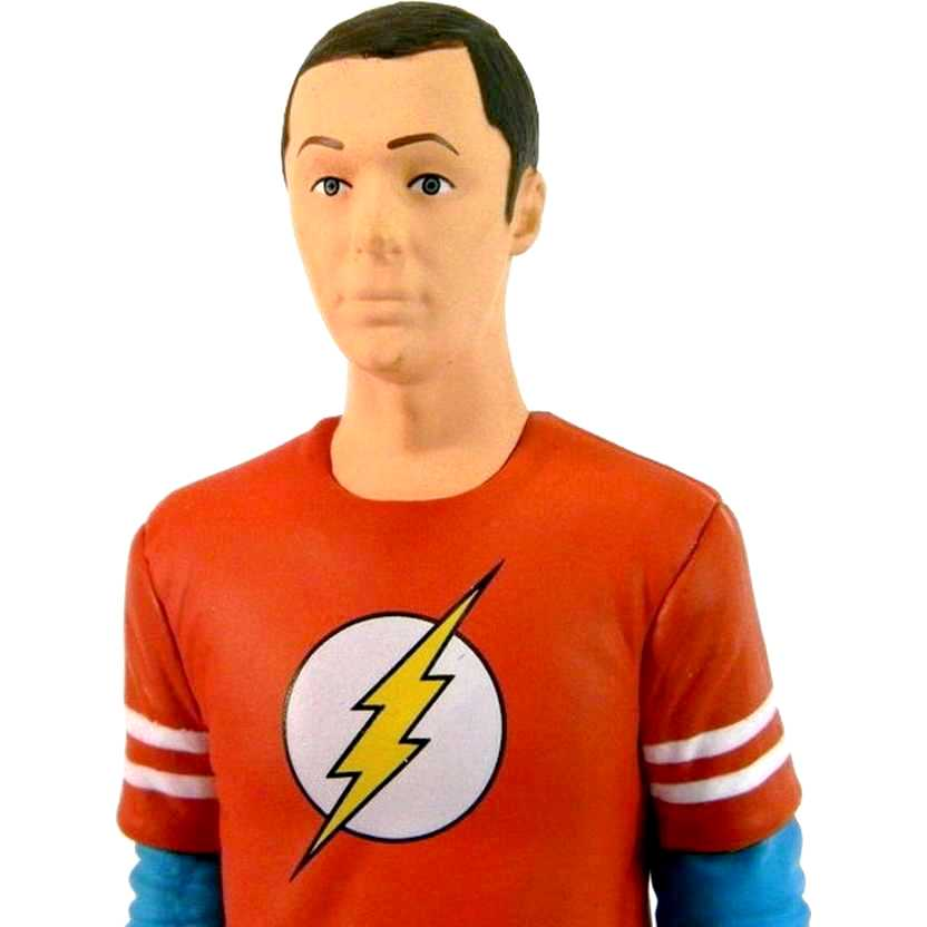The Big Bang Theory Sheldon Cooper ( Jim Parsons ) com camiseta do The Flash