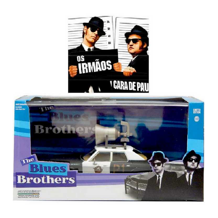 The Blues Brothers: 1974 Dodge Monaco with horn (Bluesmobile) Greenlight escala 1/43