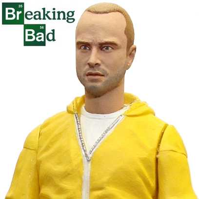The Breaking Bad - Jesse Pinkman ( Mezco Hazmat action figure ) Aaron Paul