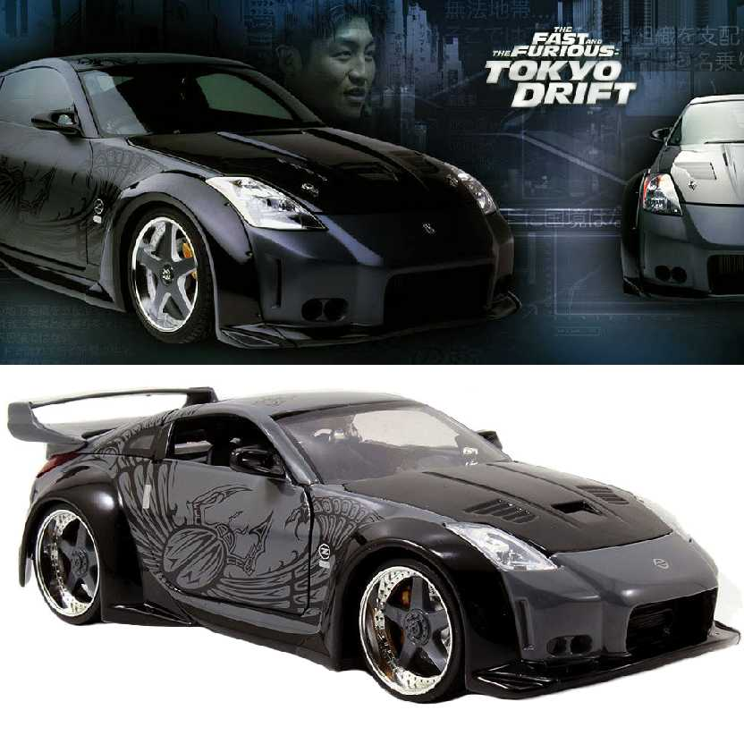The Fast and Furious Tokyo Drift Nissan 350Z Velozes e Furiosos 3 Jada Toys escala 1/24