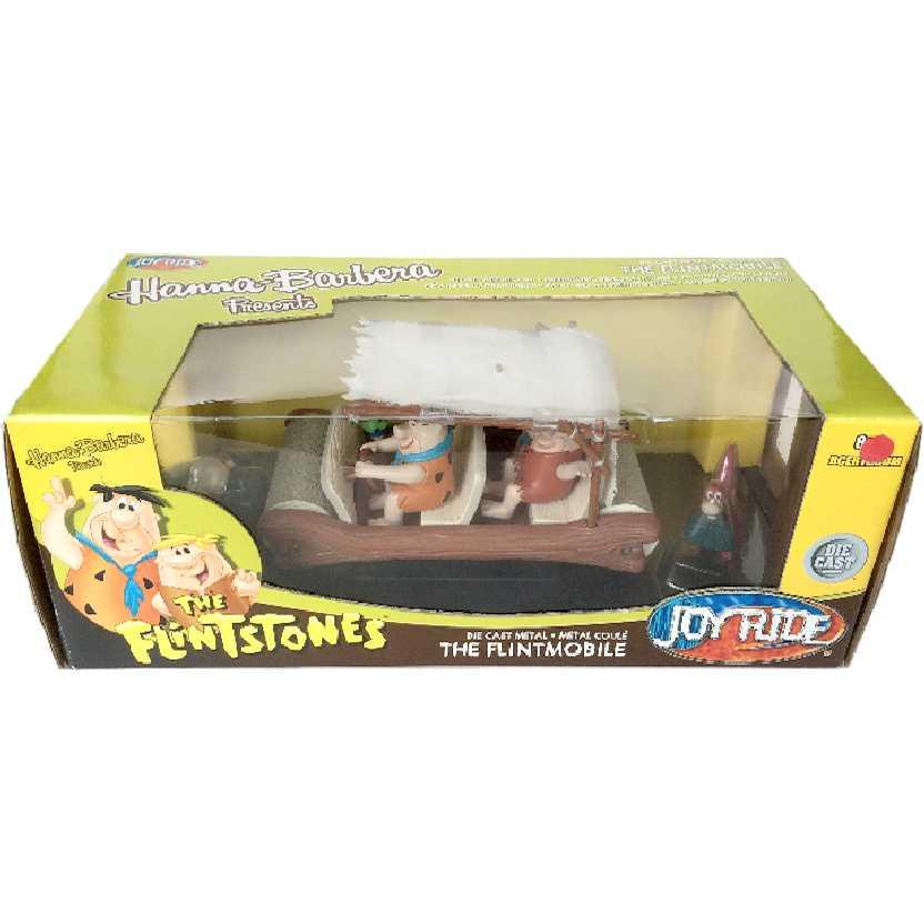 The Flintstones Flintmobile (carro com Fred, Wilma, Pedrita, Barney, Betty e Bambam) escala 1/18
