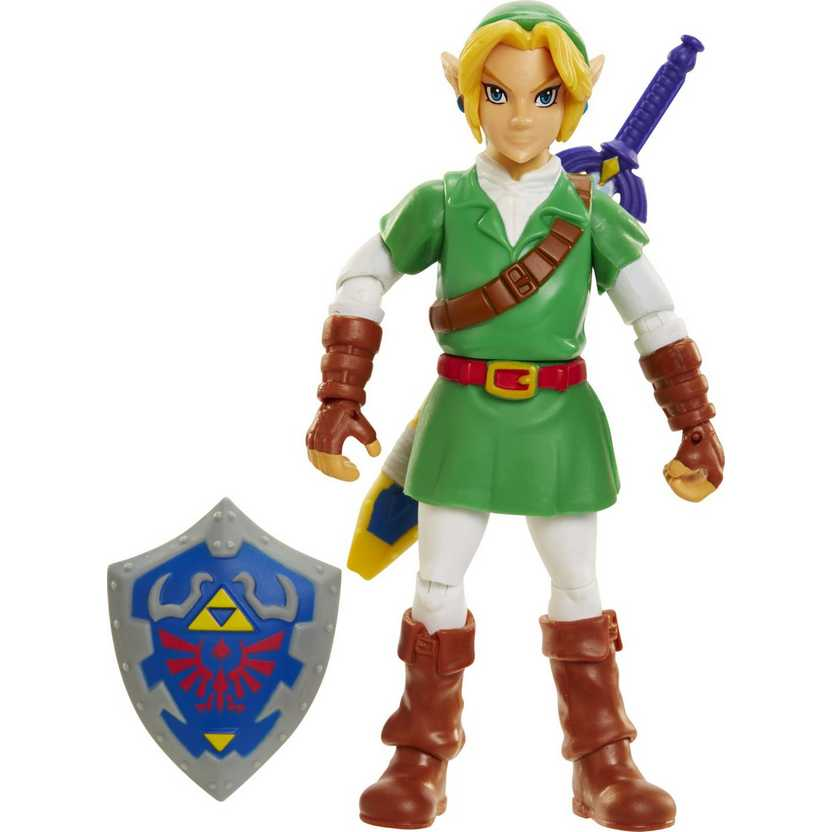 The Legend Of Zelda - Link - World of Nintendo Ocarina Time 3D Video Game Action Figure