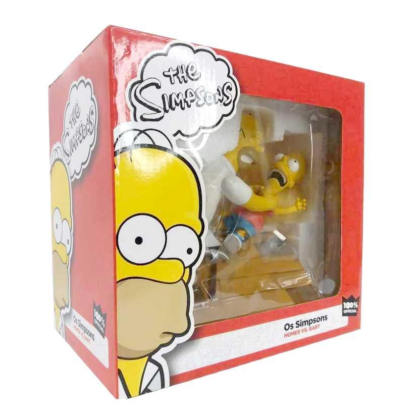 The Simpsons Diorama Homer vs. Bart Os Simpsons ORIGINAL Iron Studios
