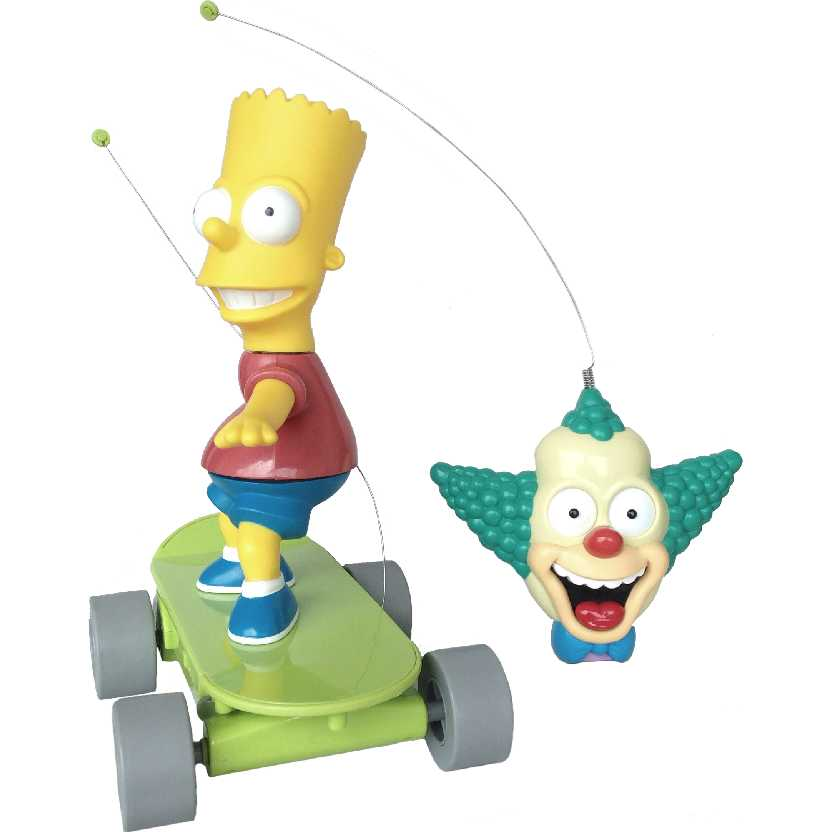 The Simpsons Radio Control Skateboarding Bart Simpsons (controle remoto Krusty que fala)