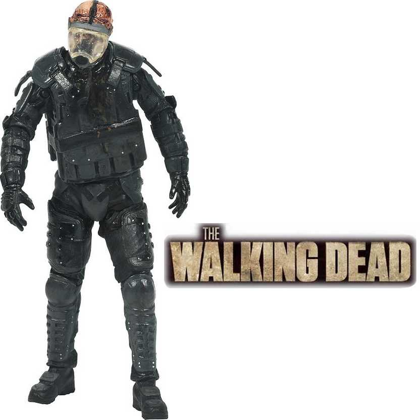 The Walking Dead TV Series 4 action figure Riot Gear Zombie