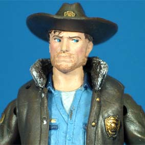 The Walking Dead onde comprar Mcfarlane Toys Boneco Officer Rick Grimes (aberto)