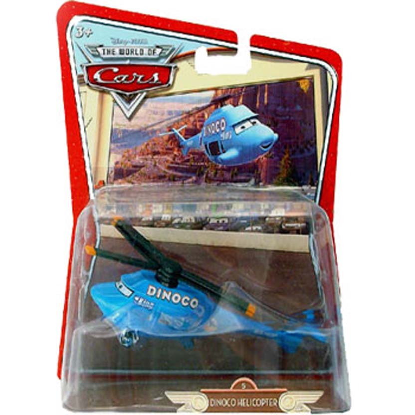 The World of Cars Dinoco Helicopter escala 1/55 (filme Carros Disney Pixar)