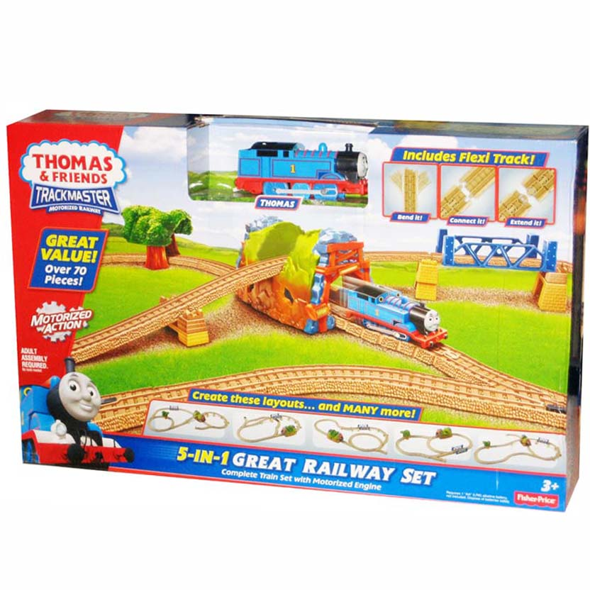 Thomas & Friends Trackmaster Motorized 5 in 1 Great Railway 70 peças Fisher-Price Y8750