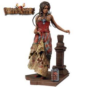 Tia Dalma - Boneco Piratas do Caribe (aberto)