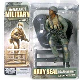 Todd Mcfarlane Military action figures series 3 Navy Seal boarding unit