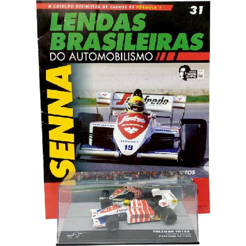 Toleman TG184 Ayrton Senna Portugal GP Lendas Brasileiras #31 do Automobilismo escala 1/43