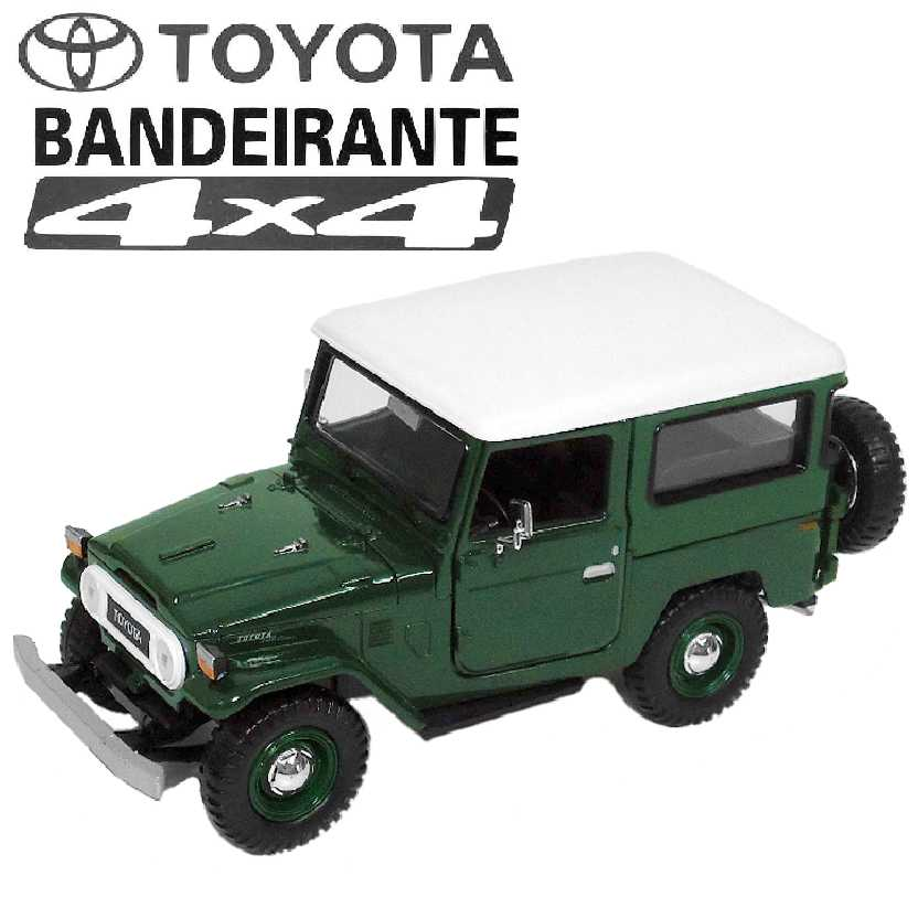 Toyota Bandeirante (FJ40) com capota removível marca Motormax escala 1/24