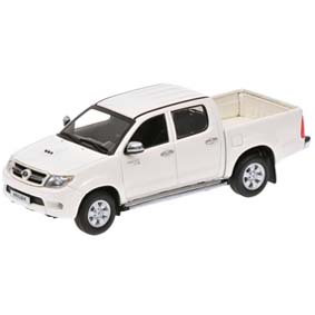 Toyota Hilux cor branca (2006) Minichamps escala 1/43