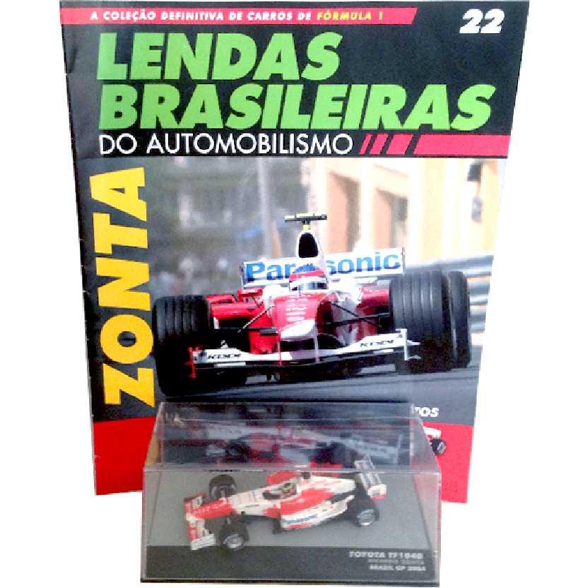 Toyota TF104B Ricardo Zonta Lendas Brasileiras #22 do Automobilismo escala 1/43