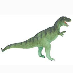 Tyrannosaurus Rex (T-Rex) verde pintado a mão