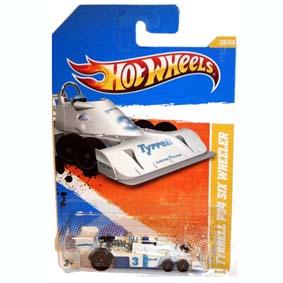 Tyrrell Hot Wheels 2010 P34 6 rodas (1975) branco Series 039 R6451