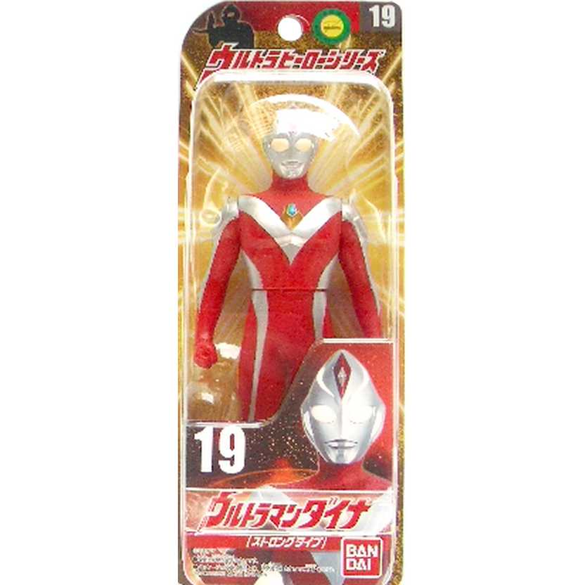 Ultra Hero Series 19 Ultraman Dyna (Strong Type) marca Bandai Action Figures