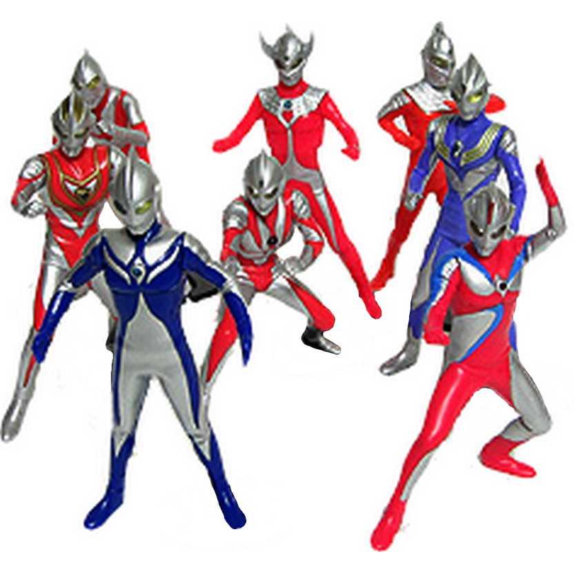 Ultraman, Ultraseven, Ultra Taro, Tiga, Gaia, Neos, Cosmos Luna e Cosmos Corona