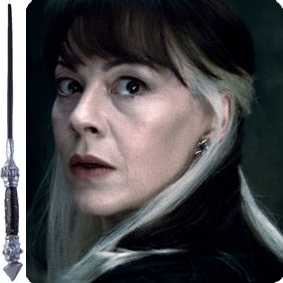 Varinha da Narcissa Malfoy (Narcisa) Coleção Varinhas do filme Harry Potter