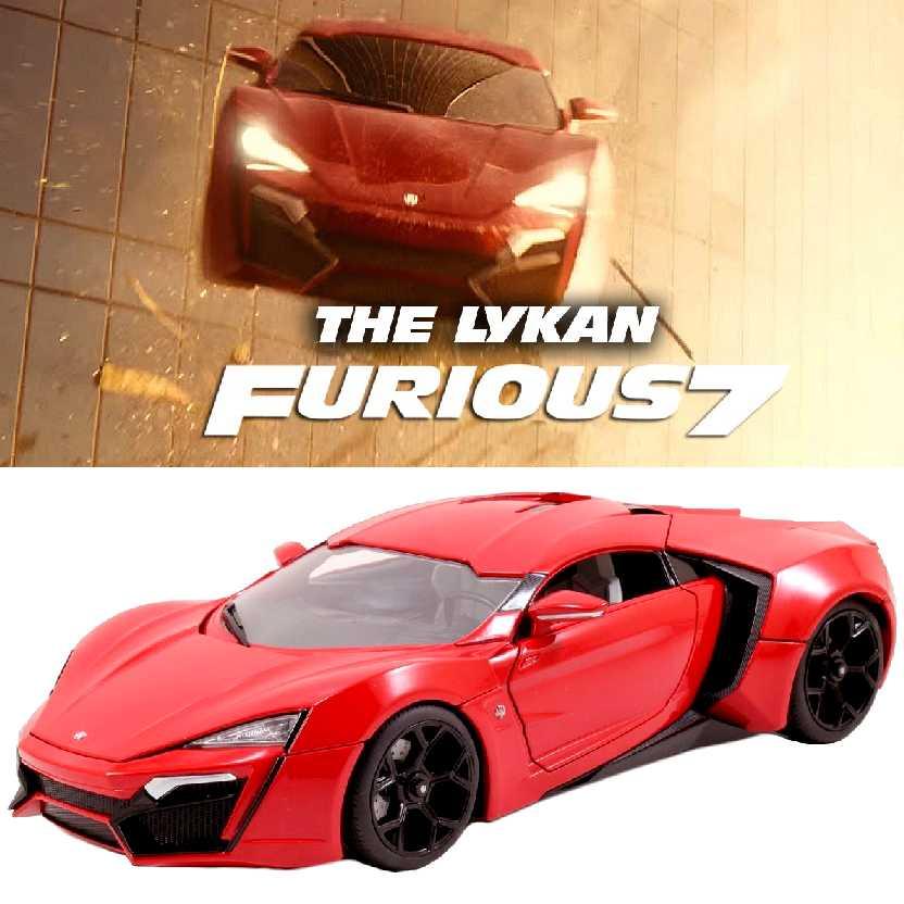 Velozes e Furiosos 7 Lykan Hypersport (2015) Furious 7 marca Jada Toys escala 1/18
