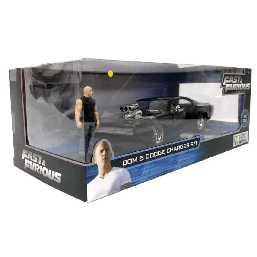 Velozes e Furiosos Dominic Toretto + Dodge Charger R/T (1970) Jada escala 1/24