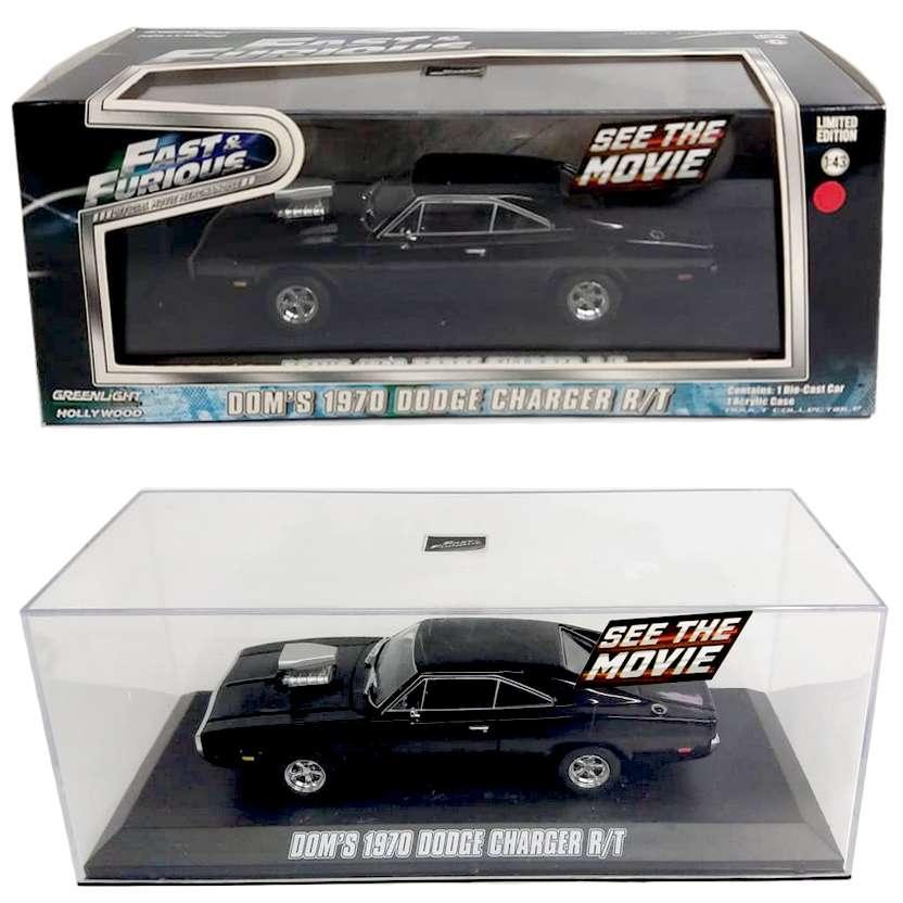 Velozes e Furiosos ( Fast & Furious ) 1970 Dodge Charger R/T do Dominic Toretto escala 1/43