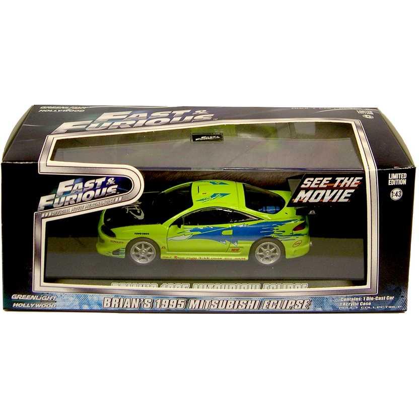 Velozes e Furiosos ( Fast & Furious ) 1995 Mitsubishi Eclipse do Brian O Conner 1/43
