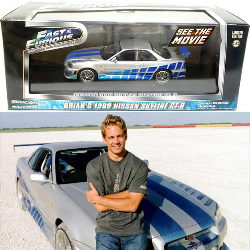 Velozes e Furiosos (Fast & Furious) 1999 Nissan Skyline GT-R do Brian O Conner escala 1/43