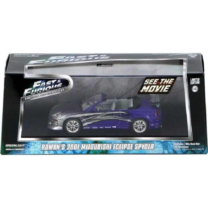 Velozes e Furiosos (Fast & Furious) 2001 Mitsubishi Eclipse Spyder do Roman escala 1/43