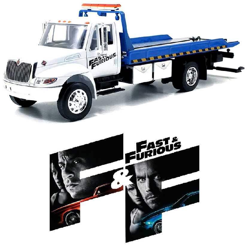 Velozes e Furiosos: Guincho International Durastar 4400 Flat Bed marca Jada Toys escala 1/24